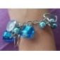 Women's Alloy Plastic Analog Quartz Bracelet Watch (Blue)