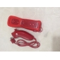 2-in-1 MotionPlus Remote Controller and Nunchuk + Case for Wii/Wii U (Red)