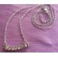 Lureme Crystals Bar Necklace