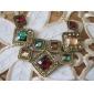 Luxury Fashion Gem Square Short Necklace