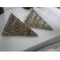 Vintage stary wzór Kolczyki trójkątne