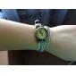 Women's Retro Style Leather Analog Quartz Bracelet Watch (Assorted Colors)