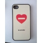 Flash Design Heart Pattern Hard Case for iPhone 4/4S