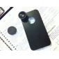 Lente effetto occhio di pesce 180 gradi + custodia posteriore per iPhone 4 e 4S - Nero
