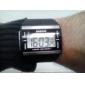 Da uomo Orologio da polso Orologio digitale Digitale LCD Calendario Cronografo allarme Gomma Banda Nero Nero