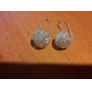 Earring Drop Earrings Jewelry Women Party / Daily Silver Plated 2pcs Silver