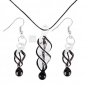 Women's Spiral Vaidurya Necklace and Earring