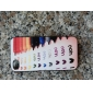 """Relief """"I Love You"""" Pattern Hard Case for iPhone 4/4S (Multi-color)"""
