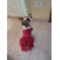 Dog Dress Red / Blue Summer Sequins / Solid Wedding / Holiday