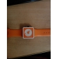 Unisex Creative Two-Dot Dial Silicone Band Quartz Analog Wrist Watch (Orange)