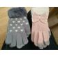 Bow Decorate Woolen Touch Handsker