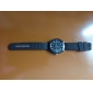 Unisex's Fabric Analog Quartz Wrist Watch (Black)