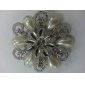 Women's   Round Flower Shape Pearl Brooch
