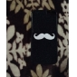 White Mustache Pattern Hard Case for iPhone 5/5S