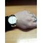 Quartz analoog lichtmetalen herenhorloge in eenvoudig ontwerp (verschillende kleuren)