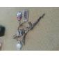 mus og tastatur formet metal nøglering, par