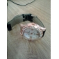 Diamante Quartz Analog Armbåndsur med PU Læder Armbånd (Assorteret Farver)