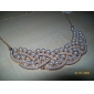 eruner®gold banhado pérola liga padrão trançado colar