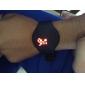 reloj de la pantalla táctil calendario de color rojo de los hombres LED Digital