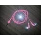 élégante de haute qualité des écouteurs, cordon de 1,2 m, 3,5 mm (rose)