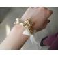Lureme®Chiffon Chain Bowknot Pendant Bracelet