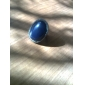 Silver Plated Alloy Gem Oval Pattern Ring