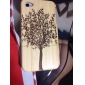 Tree Pattern Wooden Case for iPhone 4 and 4S