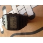 Unisex LCD Digital Block Bricks Style Band Wrist Watch (Black)
