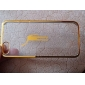 Transparent Hard Case with Gold Frame for iPhone 5/5S