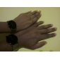 Pair of Stylish Analog Quartz Wrist Watches (Black)