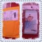 Etui en Similicuir pour iPhone 4/4S, Motif Chat et Poisson