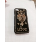 "Vintage Owl ""Love"" Pattern Zircon Hard Case for iPhone 4/4S"