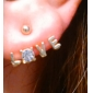 (1 Pair) Sweet Multicolor Alloy Stud Earrings(White,Red,Blue)