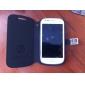 Enkel stil PU lærveske med stativ og kortspor for Samsung GALAXY SIII Mini I8190 (assorterte farger)
