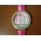 rombi caso pu orologio da donna al quarzo analogico cavallo fascia da polso (colori assortiti)