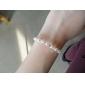 vrouwen strass witte parel armbanden
