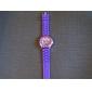 la mode montre-bracelet à quartz avec bande en silicone mauve
