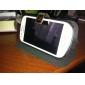 Estilo simples Capa de Couro PU com suporte e slot para cartão para Samsung Galaxy SIII Mini I8190 (cores sortidas)