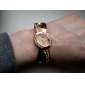 Women's Bracelet Style Metal Analog Quartz Watch (Bronze)