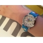 Children's Airplane Pattern Blue Silicone Band Quartz Analog Wrist Watch