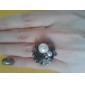 z&X® rosas das mulheres anel de pérola aberto