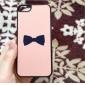 Bowknot Pattern Hard Case for iPhone 5/5S