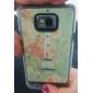 Eiffeltornet Pattern Hard Case med Rhinestone för Samsung Galaxy S2 I9100