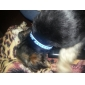 개, 고양이에 대한 작은 종소리와 함께 은색 자리 쇳조각 패턴 조절 나일론 칼라