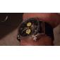 Analoge, mechanische Tourbillon-Armbanduhr für Herren, schwarzes Silikon-Armband (mehrere Farben)