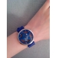 Pair of Hollow Out Star Pattern Design Quartz Wrist Watches with Crystal Decoration - Blue and Pink