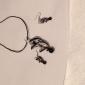 Women's Spiral Vaidurya Necklace and Earring