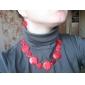 ronde tranche collier de cauris spéciale pour les femmes (rose)