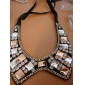 Sweet (Collar Shaped Pendant) Multicolor Glass With Black Fabric Torque(1 Pc)