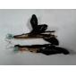 elegantes aretes de plumas de aleación de cadena